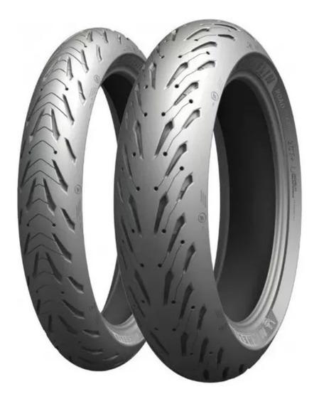 Par Pneu 120/70-17 E 160/60-17 Michelin Pilot Road 5