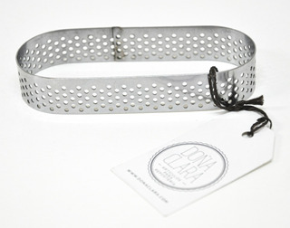 Cintura Perforada Molde Oval 11,5x4,5cm Doña Clara Acero
