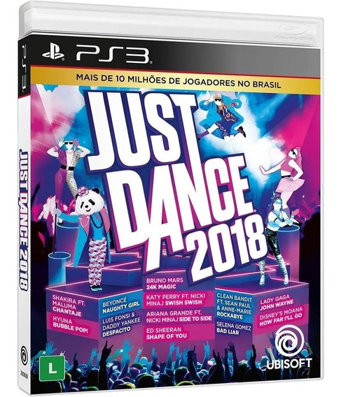 Just Dance 2018 Ps3 Mídia Física Novo Lacrado Pronta Entrega