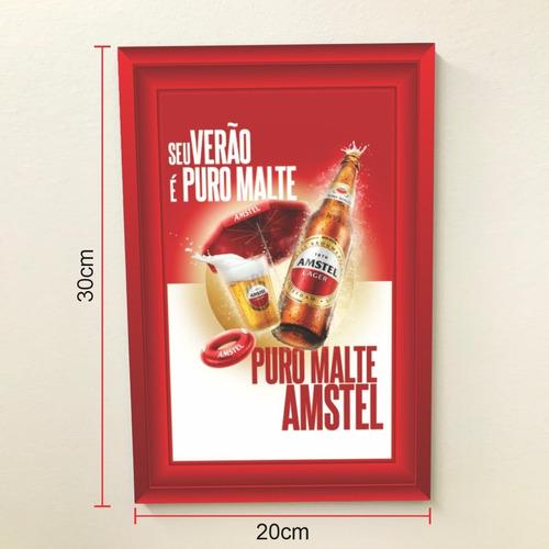 Quadro 30x20 Cerveja Amstel Modelo 1