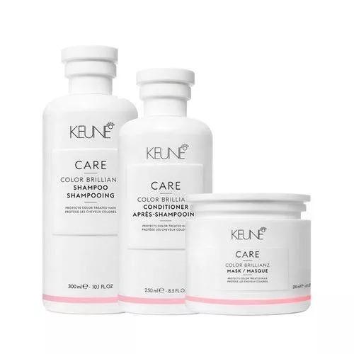 Kit Keune Care Color Brillianz Shampoo 300ml + Condicionador 250ml + Máscara 200ml