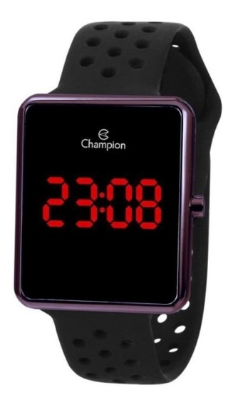 Relógio Feminino Marrom Champion Digital Pul Resina Ch40081r