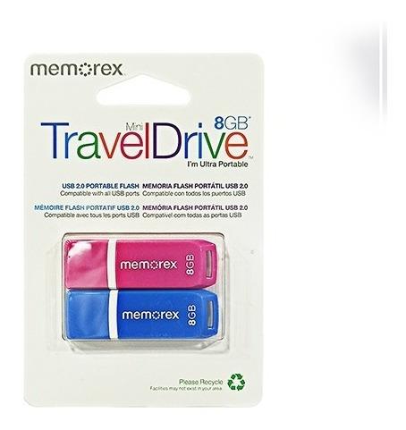 Pendrive 2 Pack Memorex Traveldrive 8 Gb Usb 2.0