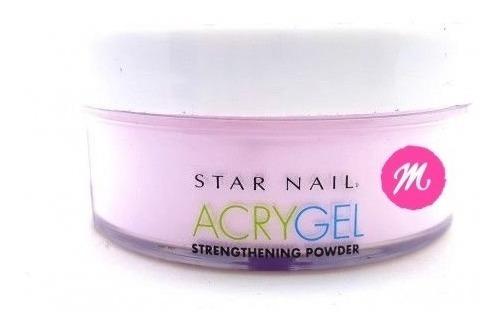 Pó Acrygel Uv Star Nail Pink 45g Acrílico Alongamento Unha