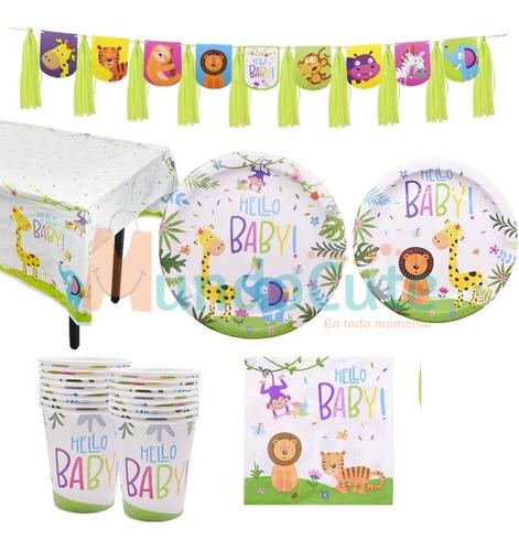 Imagen 1 de 4 de Kit De Fiesta Animales Selva Niños Bebés Cumpleaños