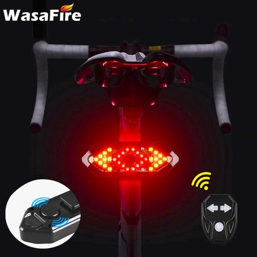 Imagem 1 de 7 de Lanterna Traseira C/ Seta De Segurança P/ Bicicleta Wasafire
