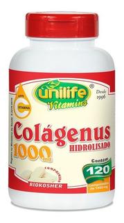 Colágeno Hidrolisado Colágenus Unilife Com 120 Cápsulas