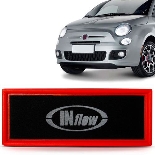 Imagem 1 de 2 de Filtro De Ar Esportivo Fiat 500 2011 2012 2013 2014 2015