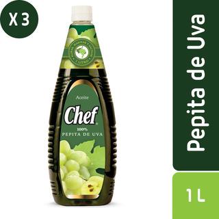 Pack 3 - Chef Aceite De Pepita De Uva 1 L