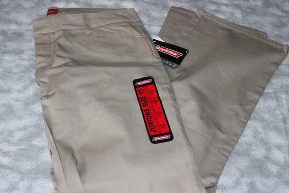 Pantalon Dickies Genuino De Dama Talla 15 Traido Usa