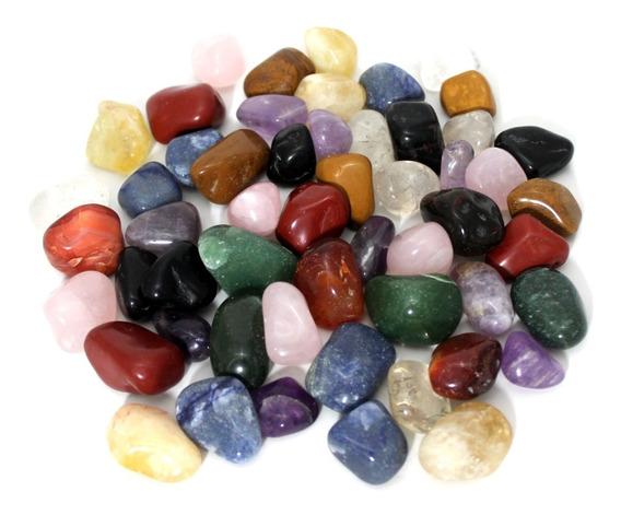 Pedras Brasileiras Roladas Mistas Médias 1kg + Brinde