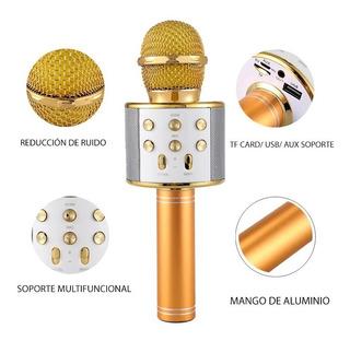 Micrófono Karaoke Usb, Bluetooth Y Auxiliar 5 Colores