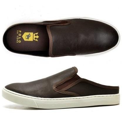 Mule Masculino Sapato Bico Redondo Sem Salto Confortável Pro