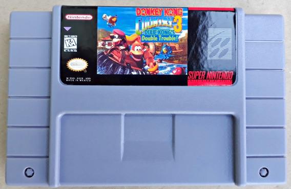 Jogo Donkey Kong Country 3 Super Nintendo Snes Salvando Novo