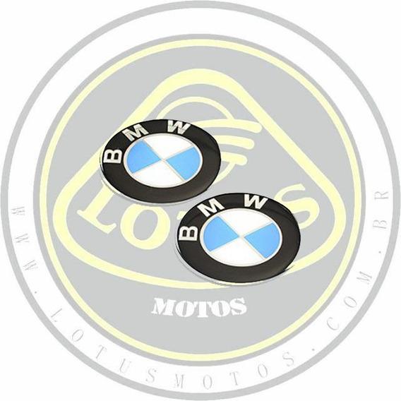 Adesivo Speed Style Logo Bmw Resinado Par 67.7mm Com Nf