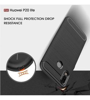 Capa Capinha +2 Película Vidro Huawei P20 Lite