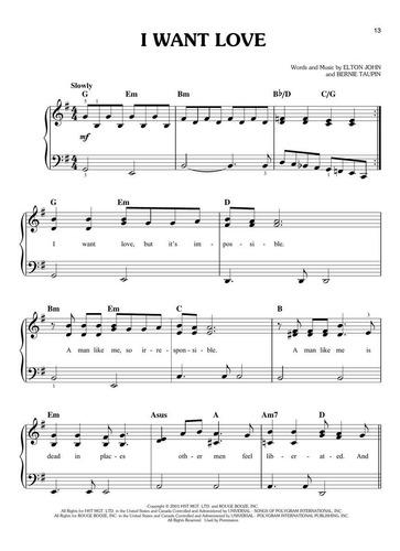 Partituras Piano Facil Elton John Rocketman Digital Oficial Soundtrack 22 Songs 2019 Mercado Libre