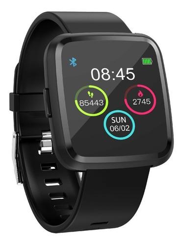 """Smartwatch Tedge H1104A 1.3"""" caja  negra malla  negra de  plástico y bisel de  aleación de zinc H1104A"""