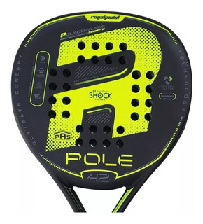 Paleta Paddle Padel Royal Pole 42mm + Cubre Grip + Protector