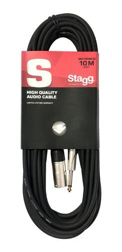 Imagen 1 de 7 de Cable Stagg Canon Xlr Macho A Plug Ts 10 Metros De Largo