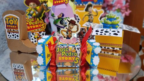 Imagem 1 de 9 de Kit Personalizados Toy Story - 60 Itens