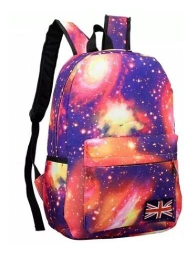 Mochila Galáxia Rosa