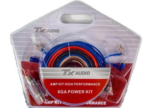 Kit De Cables 8 Gauge Portafusible Rca Potencia Woofer