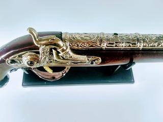 Escopeta Travuco +inox 40cm Enfeite Guerra Decoraçao