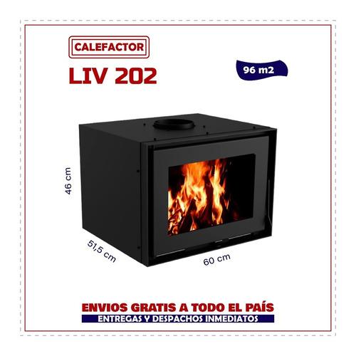 Imagen 1 de 8 de Calefactor Doble Combustión Liv202 96mt2 - Barraca La Kazona