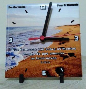 Relógio De Parede Em Azulejo 20x20 Personalizado