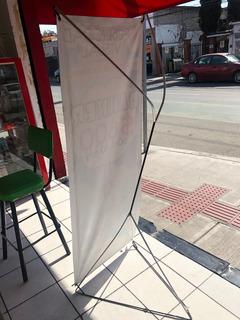 Display X Banner Para Lonas .60 X 1.60 Aluminio