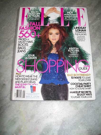 Revista Elle Americana Nº 253 - Lindsay Lohan - 09/2006
