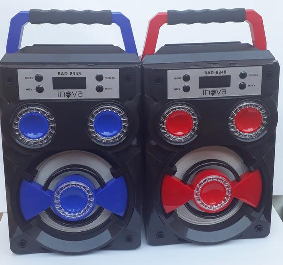 Caixa De Som Portátil Inova Rad 8348 Bluetooth Recarregavel