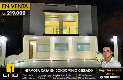 Lujosa Casa A Estrenar Dentro De Condominio Cerrado