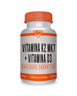 Vitamina K2 Mk7 100mcg + Vitamina D3 10000ui 120 Cápsulas