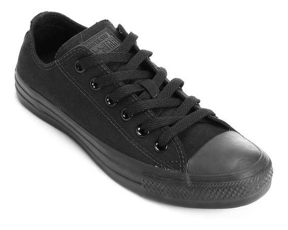 Tênis Converse All Star Monochrome All Black Unissex