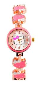Relógio De Pulso Hello Kitty Cristal Infantil - Rosa Bebê