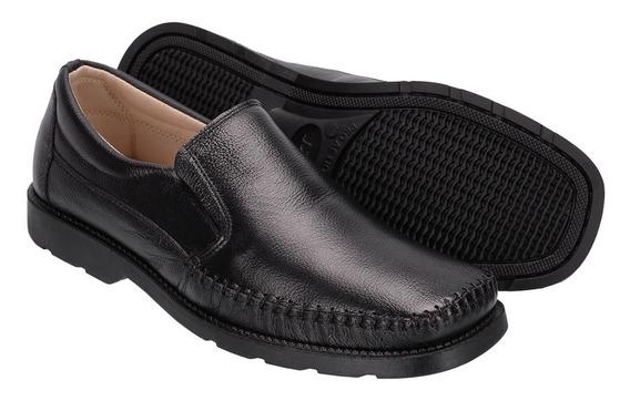 Sapato Masculino Dockside Mocassim Couro Para Dores Nos Pés