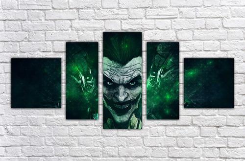 Imagem 1 de 5 de Quadro Decorativo Coringa Joker Mosaico Com 5 Pçs 001