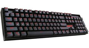 Teclado Gamer Redragon Mitra Led Vermelho Mecânico Pt-blue