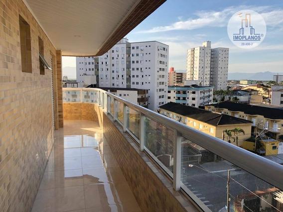 Apartamento Com 2 Dormitórios À Venda, 88 M² Por R$ 380.000,00 - Vila Guilhermina - Praia Grande/sp - Ap10448