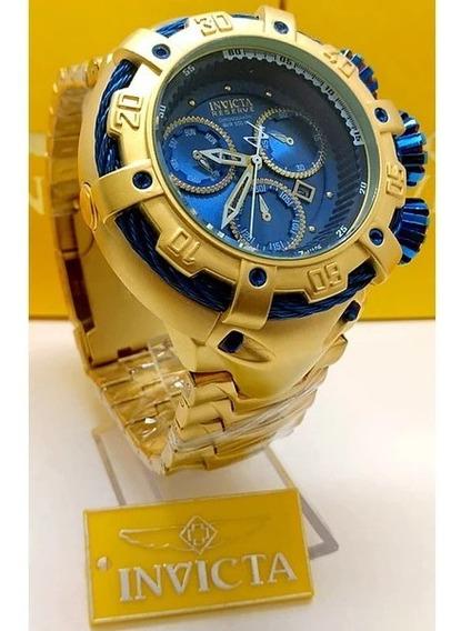 Relógio Invicta Thunderbolt Banhado Ouro + Corrente Brinde