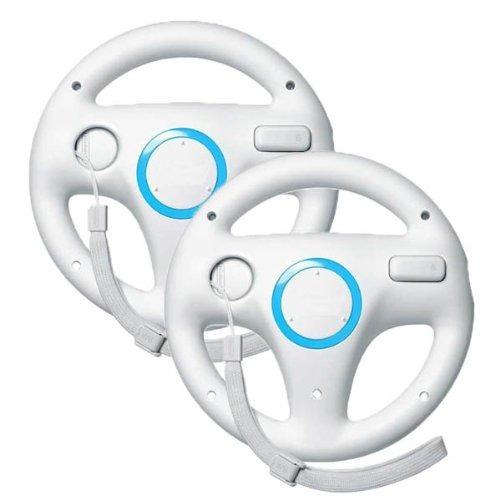 Zettaguard Mario Kart Racing Wheel Para Nintendo Wii, 2 Jueg