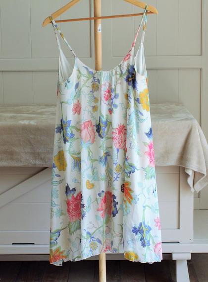 Vestido Corto De Verano Estapmpado De Bambula