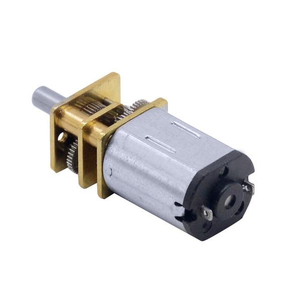 Mini Motor Redução Dc 12v N20 3 Un 200rpm + 3 Un 100 Rpm