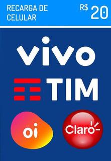 Recarga De Celular Onliner$20,00claro Tim Vivo E Oi Imediato