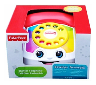 Telefono Fisher Price Vintage Retro Antiguo Juguete De Bebe
