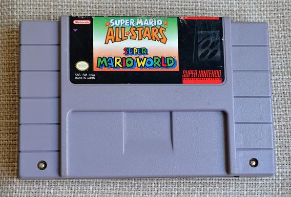 Snes Super Mario All Stars + Super Mario World Original Veja