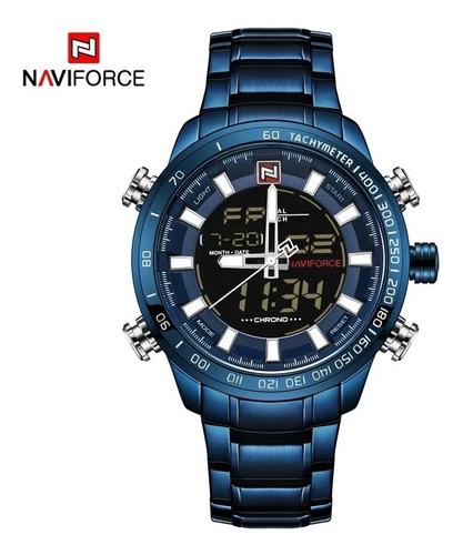 Relógio Naviforce Masculino Azul Analógico E Digital+caixa