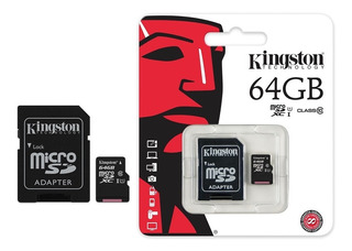 Memoria Microsd 64gb Clase 10 Kingston Original